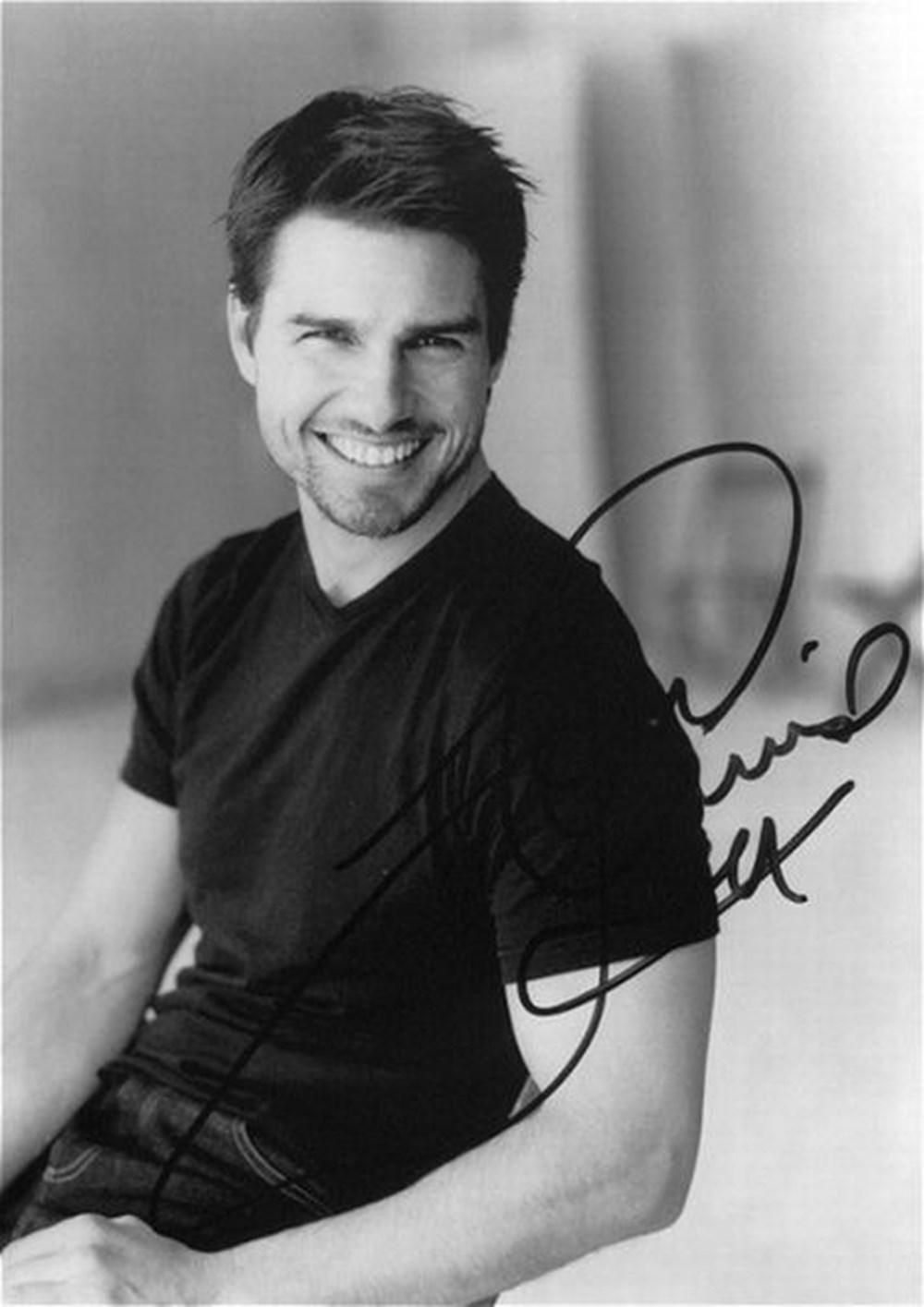 photo star tom cruise autographe signee 07
