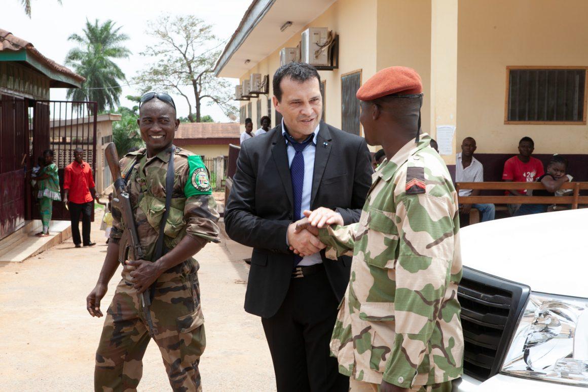 Martial Mutte en visite à Bangui